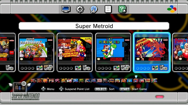 Screenshots SNES Classic Mini