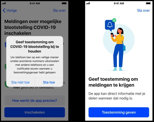 CoronaMelder iOS-onboarding