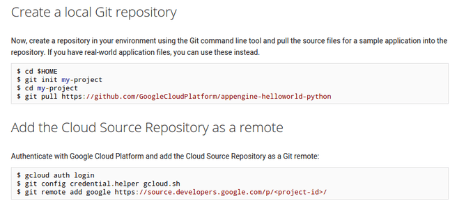 google cloud source repository