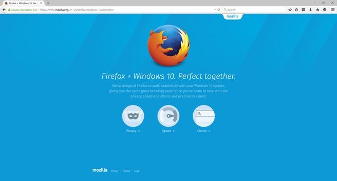 Firefox voor Windows 10