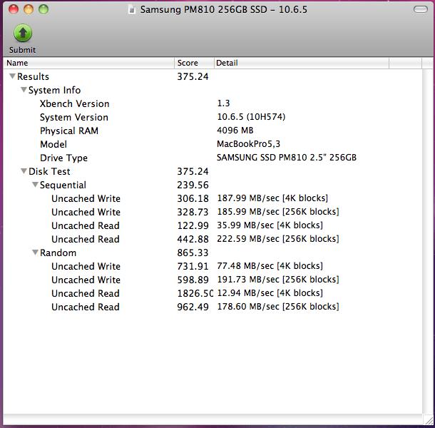 Samsung PM810 256GB - 10.6.5