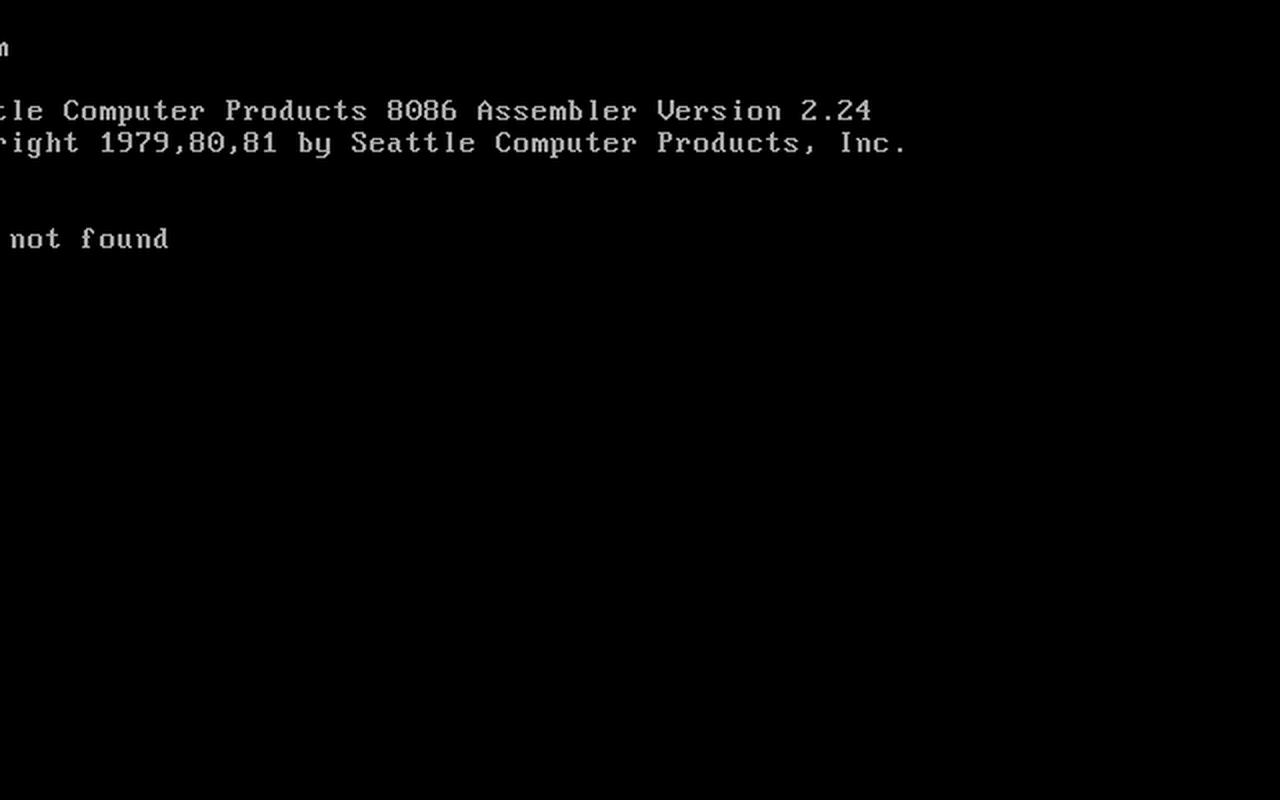PC DOS 1.0 pre-release