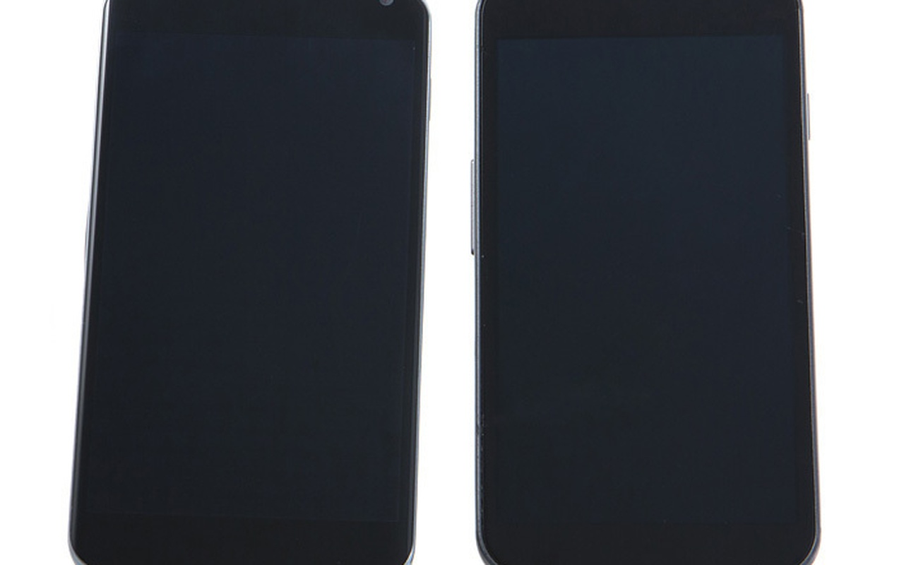 Links: LG Nexus 4, rechts: Galaxy Nexus