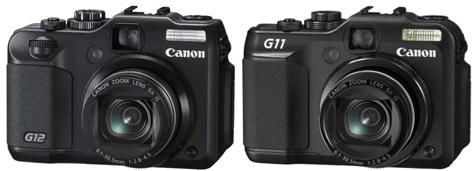 Canon PowerShot G12 (links), G11 (rechts)
