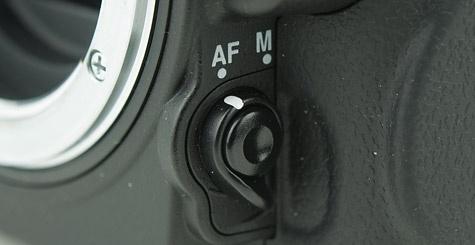 Nikon D7000 AF-keuzeknop