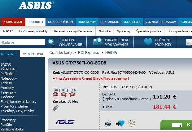 Asus GTX 750Ti