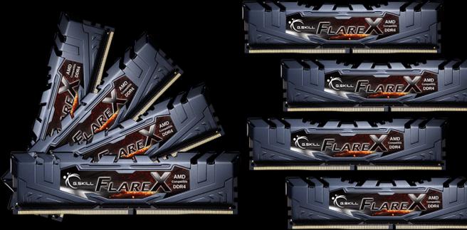 G.Skill Flare X memory F4-2400C15Q2-128GFX