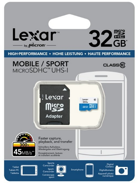 Crucial 32GB microSDHC
