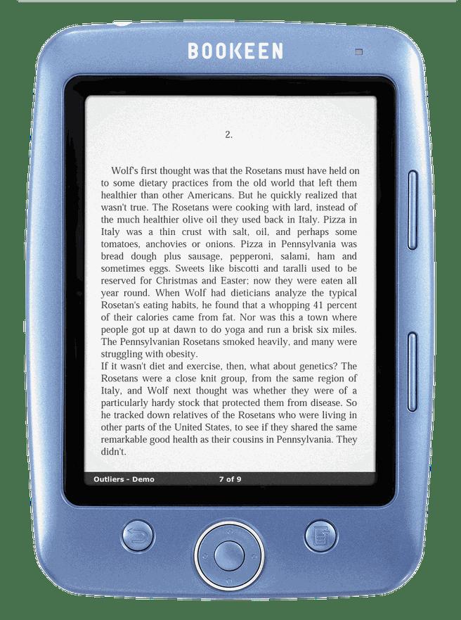 "Bookeen Cybook Opus (Blauw 5"")"
