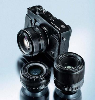Fujifilm X-Pro1 met lenzen