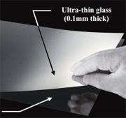 Asahi Glass dun glas substraat lamineermethode rechts