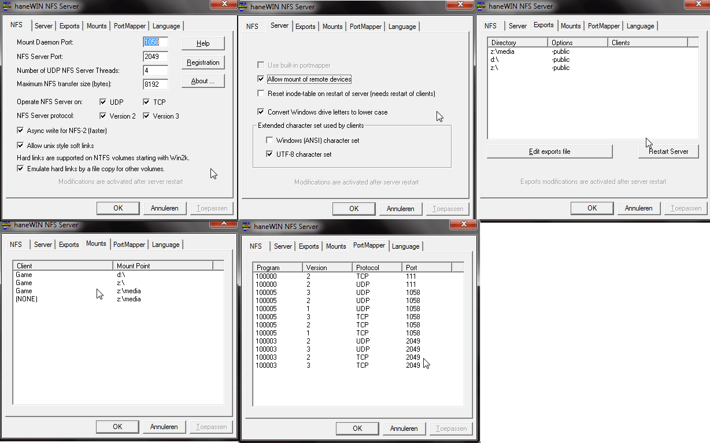 TViX M-6500A] NFS verbinding niet aan de praat te krijgen