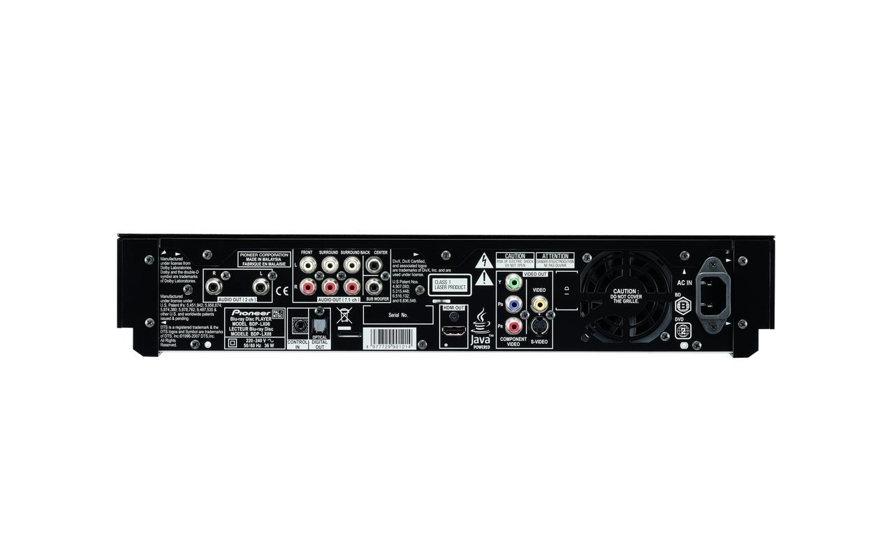 Pioneer BDP-LX08 BonusView Blu-ray Player True HD&DTS-HD ...