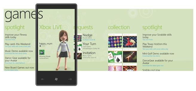 Games hub in Windows Phone 7