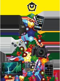Kerstboom met gadgets