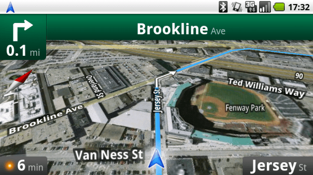 Google Maps met navigatie