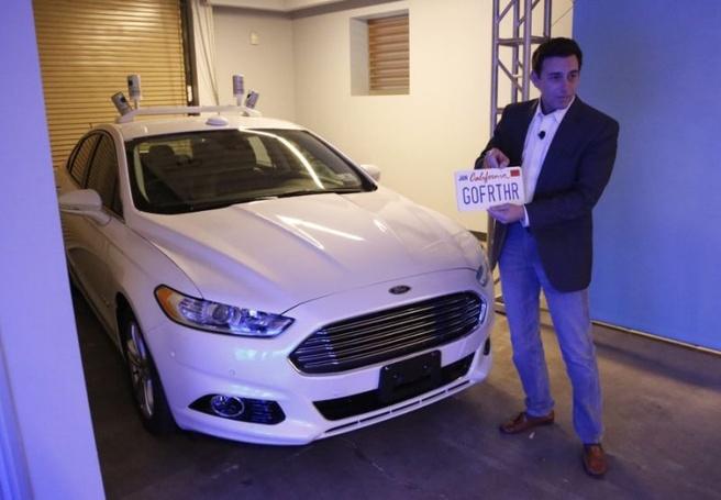 Ford zelfrijdende auto prototype