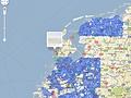 Google Street View NL dekking - november 2009