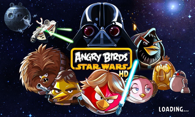 Angry Birds Star Wars loading op Z10