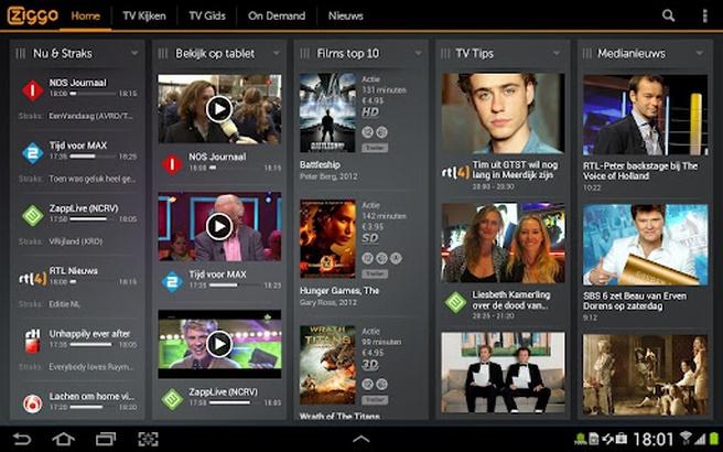 Ziggo TV op Android