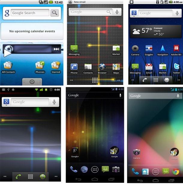 Android-homescreens vanaf 2009 tot nu