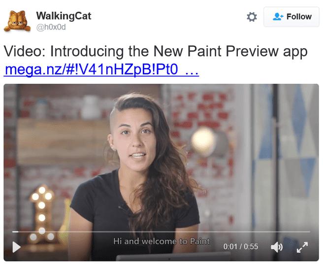 Paint W10 tweet