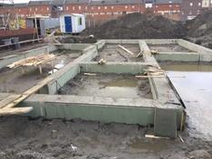 Fundatiebalken met beton