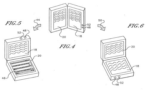 Sony dualscreen-patent