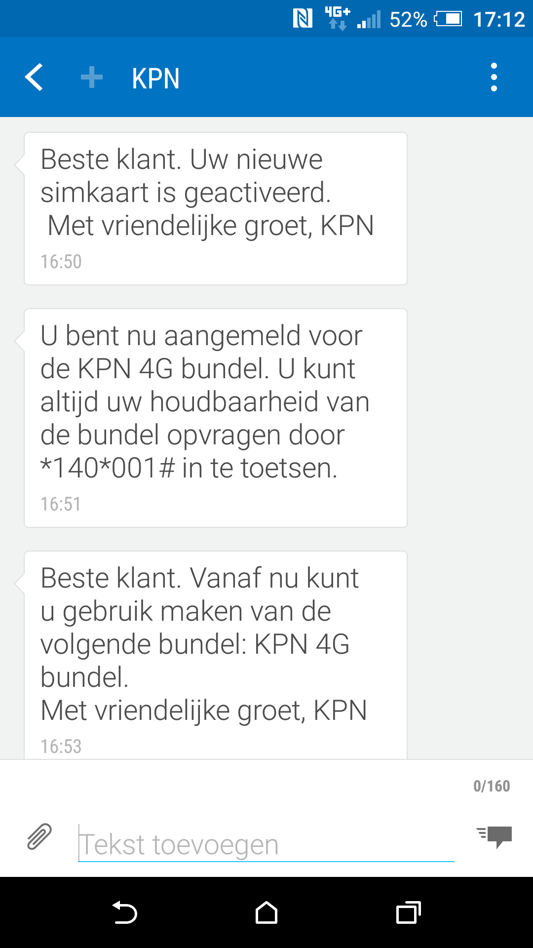 Screenshot 4G KPN prepaid