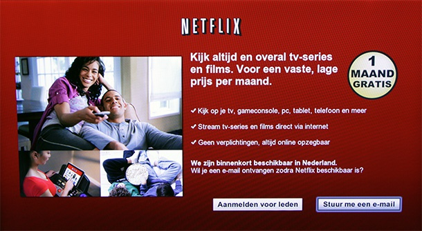 Netflix op een Samsung Smart TV