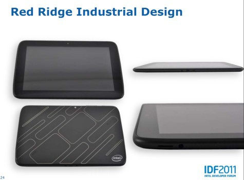 IDF 2011 Intel Red Ridge Medfield tablet