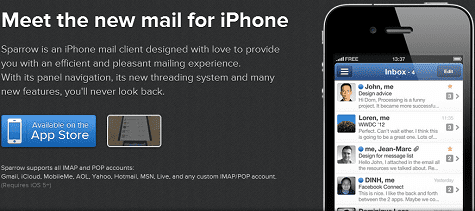 Sparrow voor iPhone