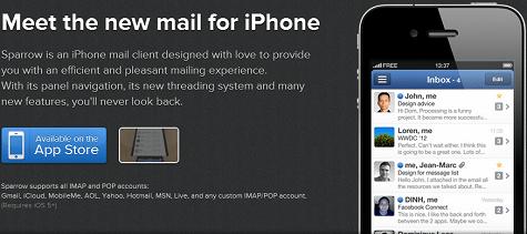 Sparrow voor iPhone