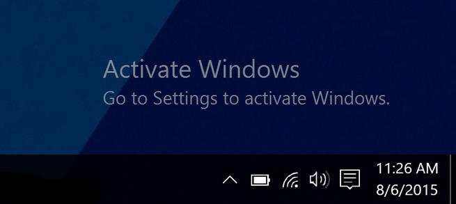 Windows 10 niet geactiveerd