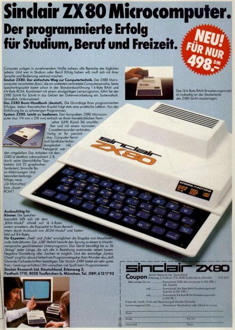 Duitse ZX80-advertentie
