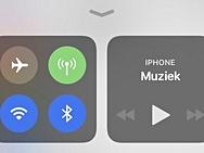 Bedieningspaneel in iOS 11 met wifi en bluetoothq