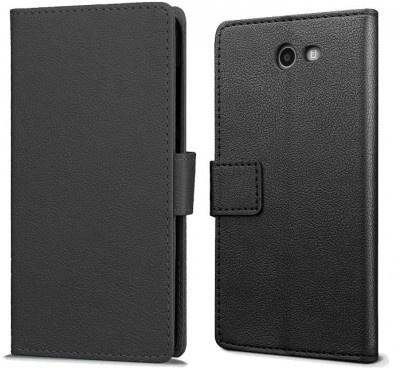 qMust Samsung Galaxy J7 (2017) Wallet Hoesje Zwart