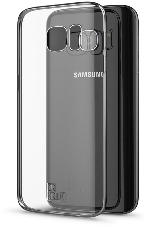 BeHello Samsung Galaxy S7 Gel Case Transparent Chrome Edge Silver
