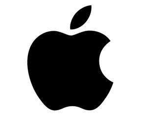 Apple logo zwart-wit