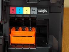 Inktcompartiment met transportbracket