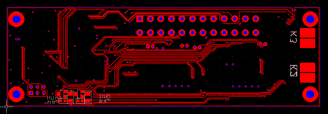 PCB layout of MADPSU - bottom layer