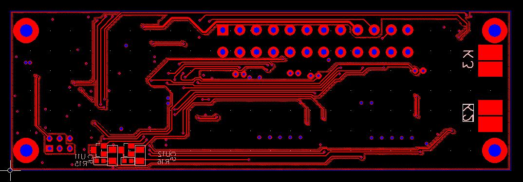 PCB layout of MADPSU - bottom layer