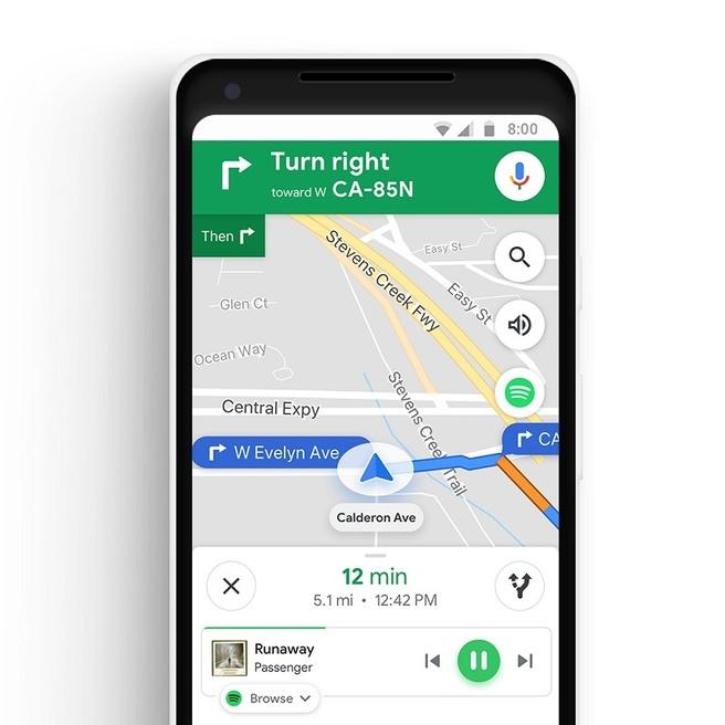 google maps-muziekintegratie