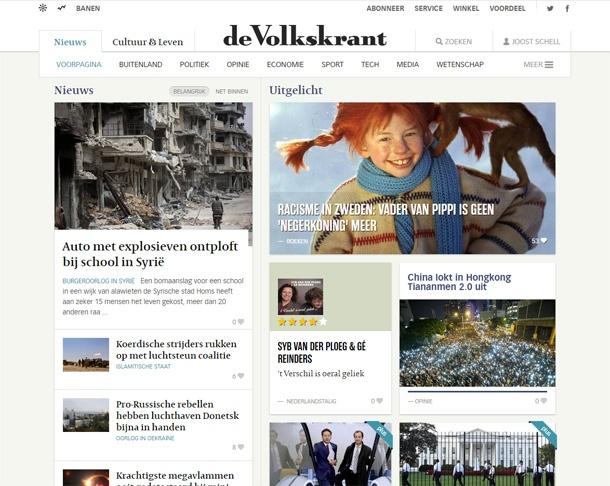Nieuwe Volkskrant-website