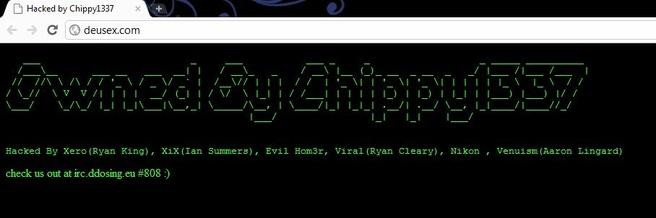 Hack van websites Eidos en Deus Ex: Human Revolution