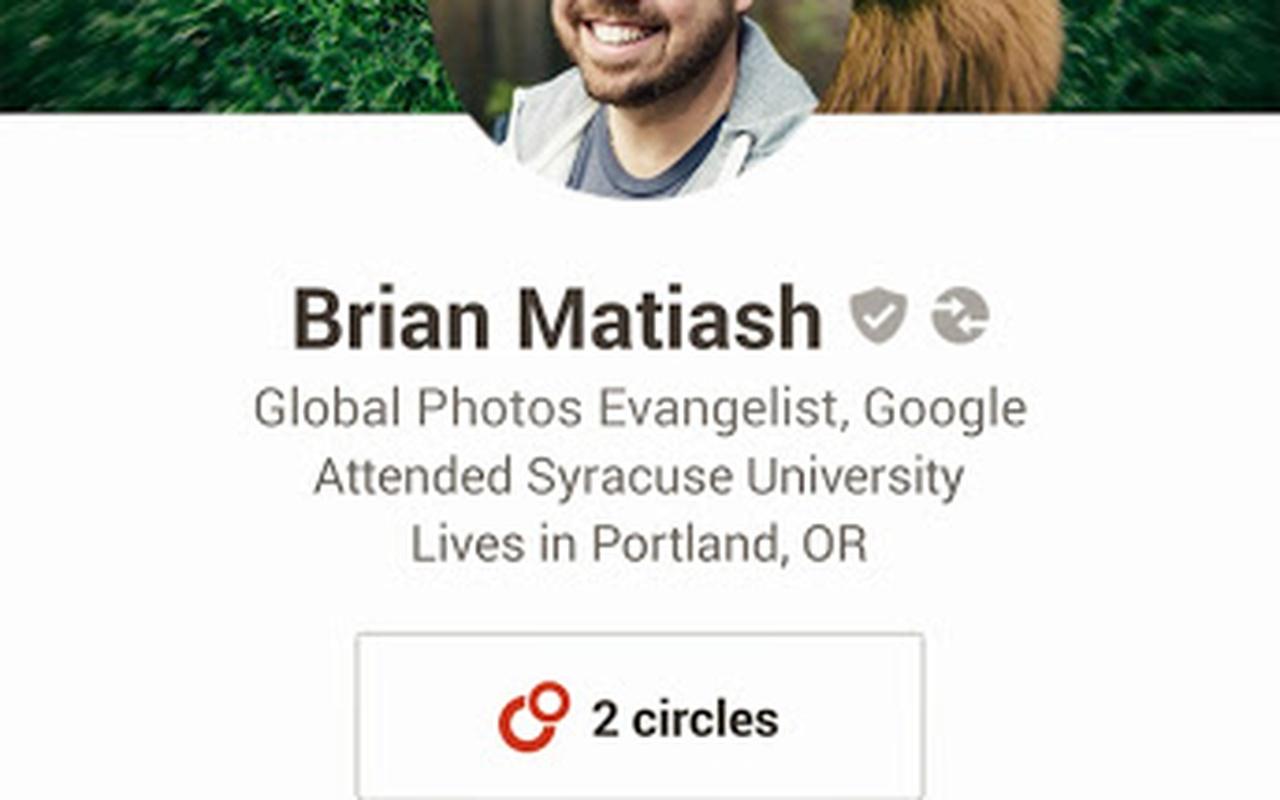 Update voor Google+