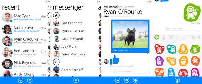 Facebook Messenger voor Windows Phone