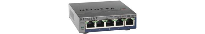 Netgear Prosafe GS105E 5-Poort Gigabit Switch