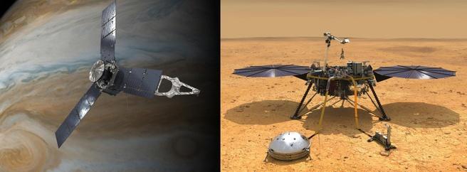 InSight en Juno